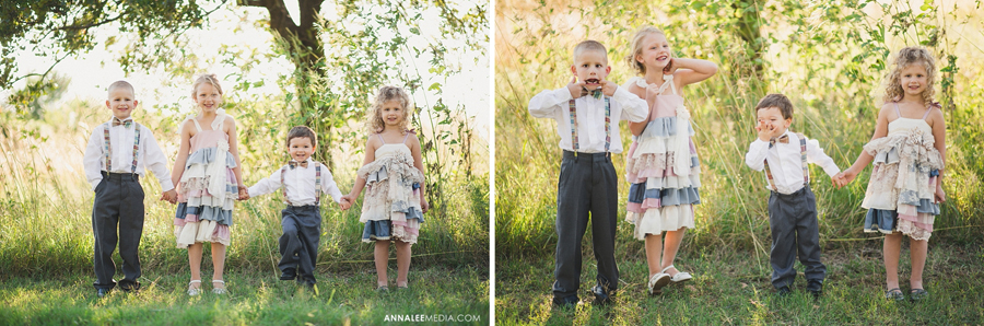 25-oklahoma-wedding-photographer-harrah-ashlynn-prater-josh-mcbride-rustic-backyard-country-vintage-eclectic-modern-stylish-ring-bearer-bowtie-flower-girl-kids-pose