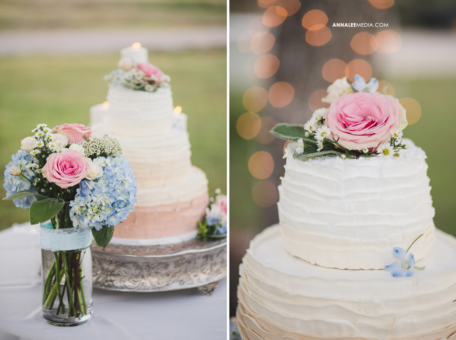 37-oklahoma-wedding-photographer-harrah-ashlynn-prater-josh-mcbride-rustic-backyard-country-vintage-eclectic-modern-stylish-cake-table-bouquet-reception-decor-light-bokeh