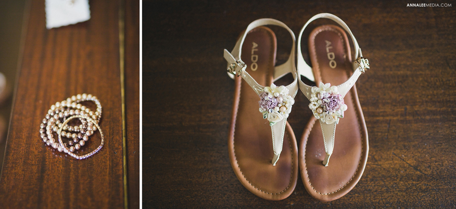 8-oklahoma-wedding-photographer-harrah-ashlynn-prater-josh-mcbride-rustic-backyard-country-vintage-eclectic-modern-stylish-bridal-accessories-flats-sandals-shoes-bracelets