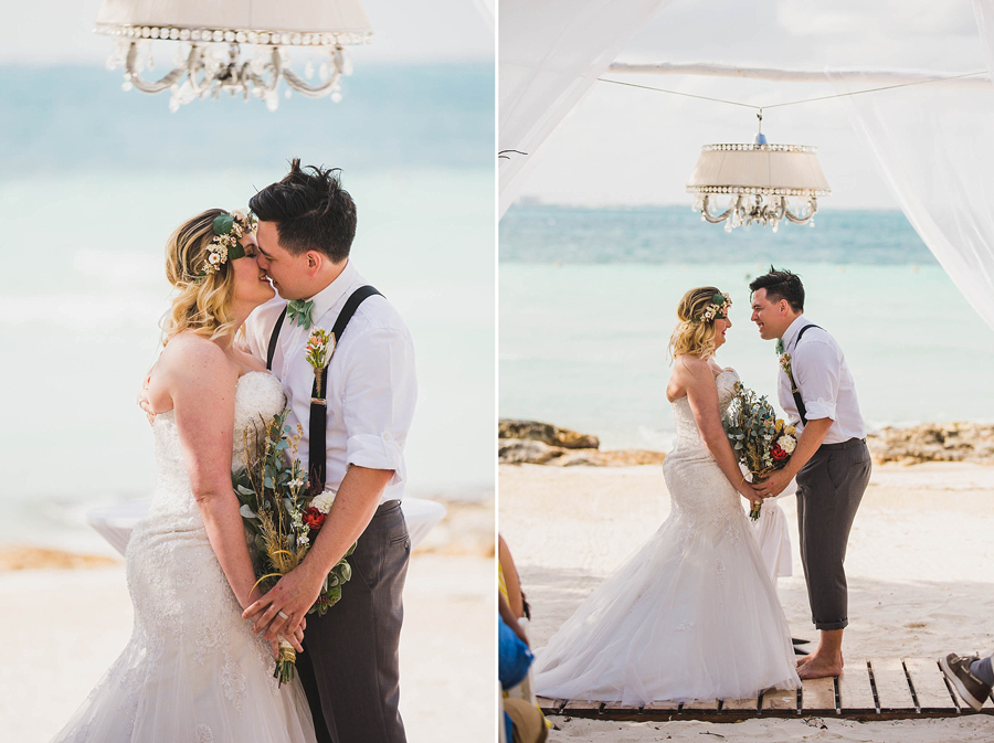 14-dream-sands-resort-destination-wedding-photographer-cancun-beach-ceremony-kiss