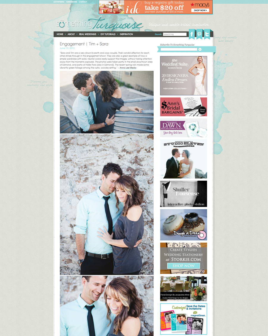 Anna Lee Media | Something Turquoise Wedding Blog