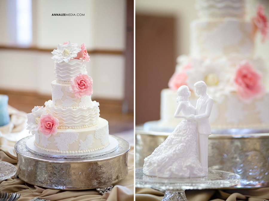 25-norman-oklahoma-wedding-photographer-lauren-buchanan-ryan-elassal-summer-2013-OU-University-of-Oklahoma-ballroom-reception-cake