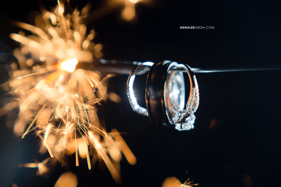 39-norman-oklahoma-wedding-photographer-lauren-buchanan-ryan-elassal-summer-2013-OU-University-of-Oklahoma-ring-macro-shot-sparkler-creative-flash