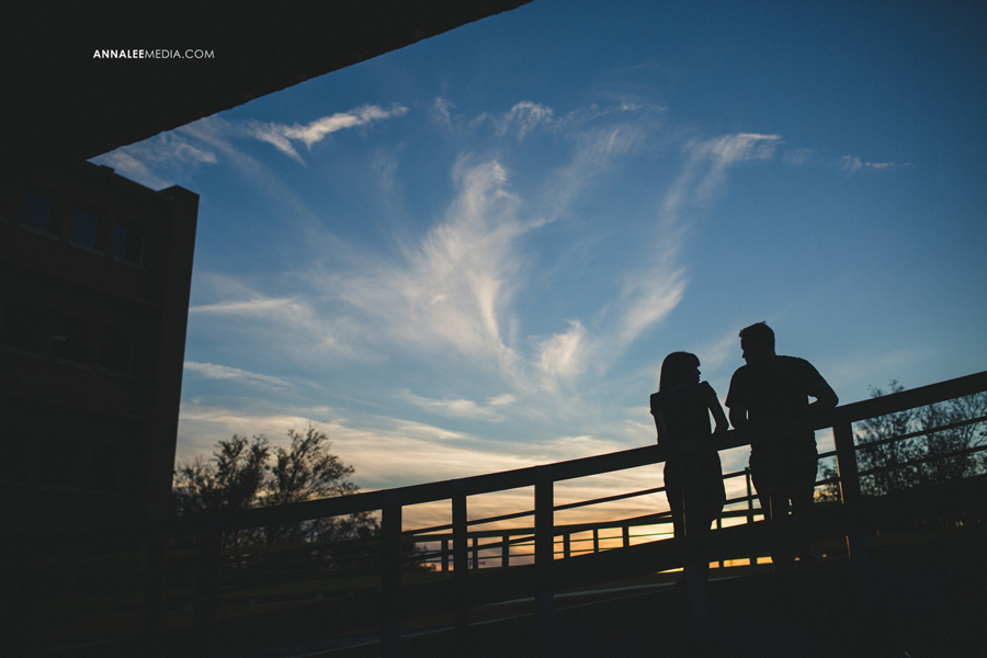 17-oklahoma-engagement-wedding-photographer-alexa-dumas-brandon-land-modern-quirky-hipster-stylish-okc-ok-couple-pose-parking-garage-sunset-silhouette