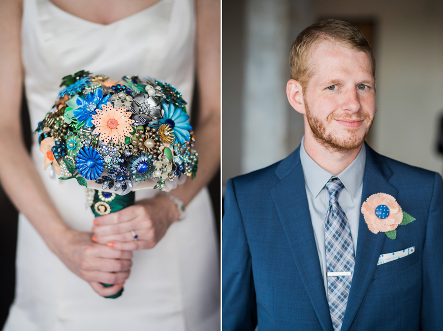 9-okc-magnolia-building-wedding-photographer-brooch-bouquet-fabric-boutonniere-anna-lee-media-