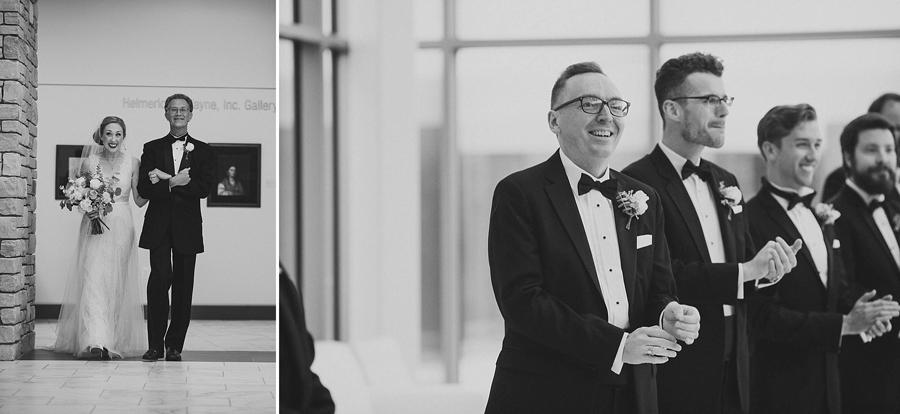 tulsa-oklahoma-wedding-photographer-gilcrease-museum-venue-steve-cluck-joy-jones-11-lobby-ceremony-rain-first-look