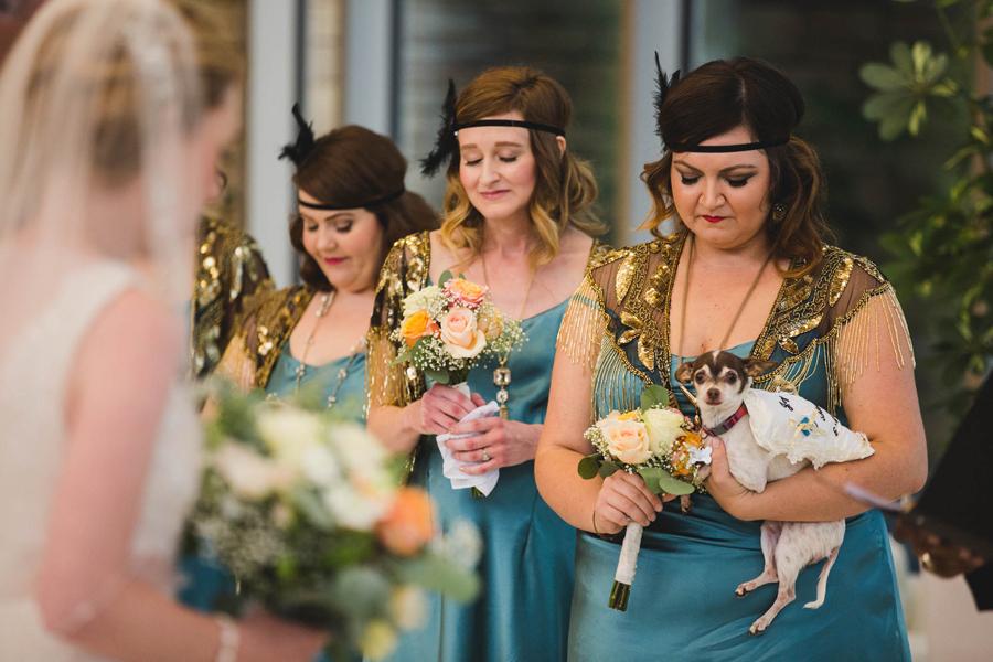 tulsa-oklahoma-wedding-photographer-gilcrease-museum-venue-steve-cluck-joy-jones-16-dog-ring-bearer-lobby-ceremony-rain-