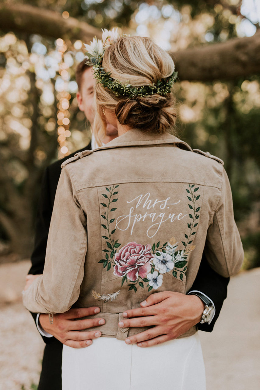 best-top-los-angeles-destination-wedding-photographer-hipster-modern-quirky-editorial-romantic-epic-27-calamigos-ranch-bride-custom-jacket-malibu
