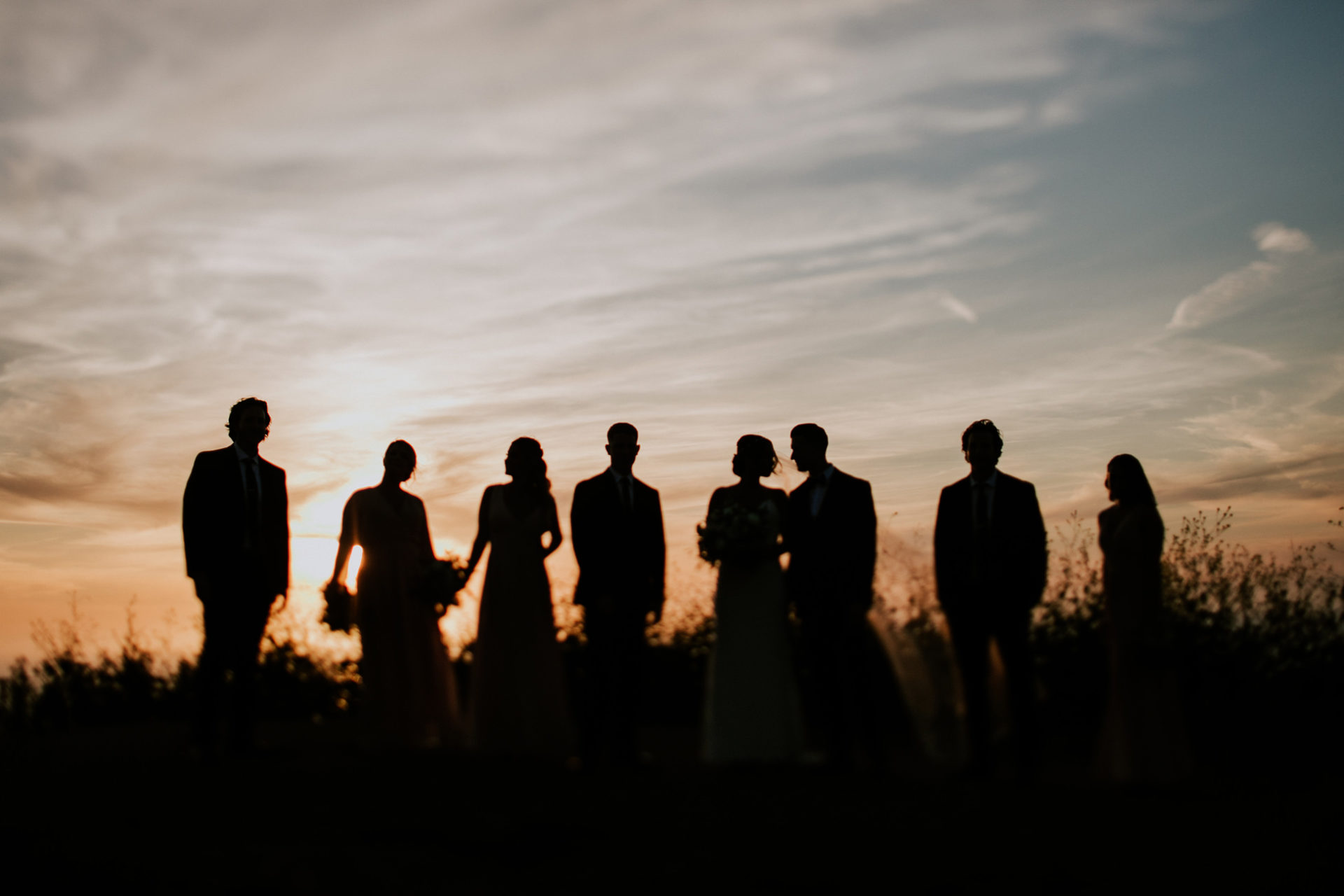 best-top-los-angeles-destination-wedding-photographer-hipster-modern-quirky-editorial-romantic-epic-33-bridal-party-silhouette-sunset-redondo-beach-palos-verdes