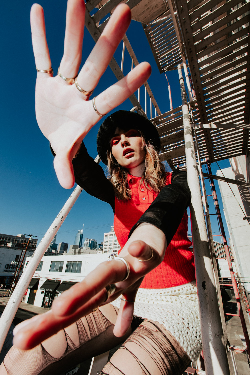 ava-maybee-fire-escape-stairs-hands-pose-AnnaLeeMedia