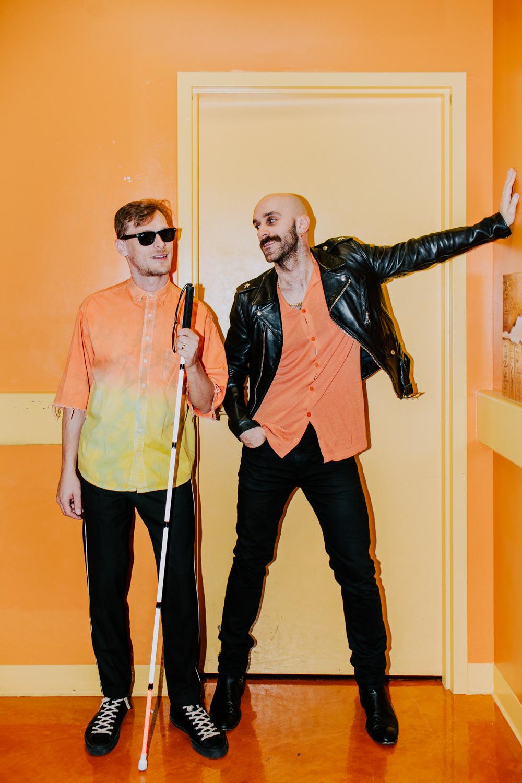 sam-casey-matching-outfits-orange-x-ambassadors-AnnaLeeMedia