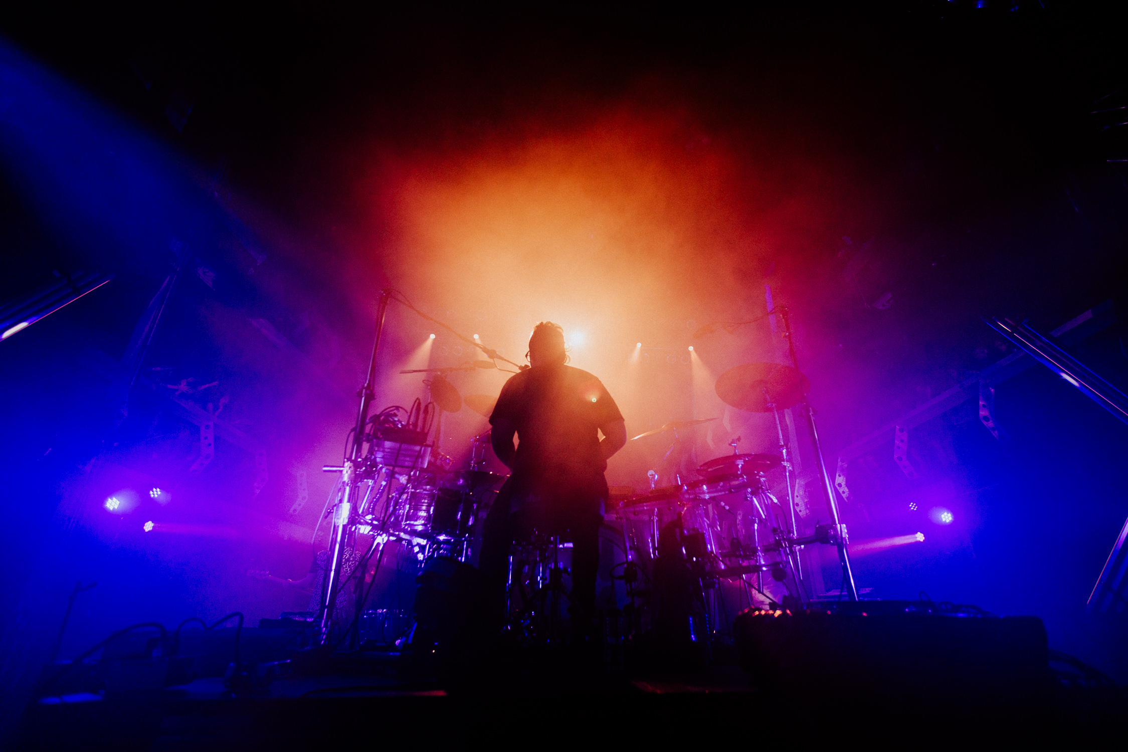 sean-rainbow-silhouette-drums-upstage-walk-the-moon-AnnaLeeMedia