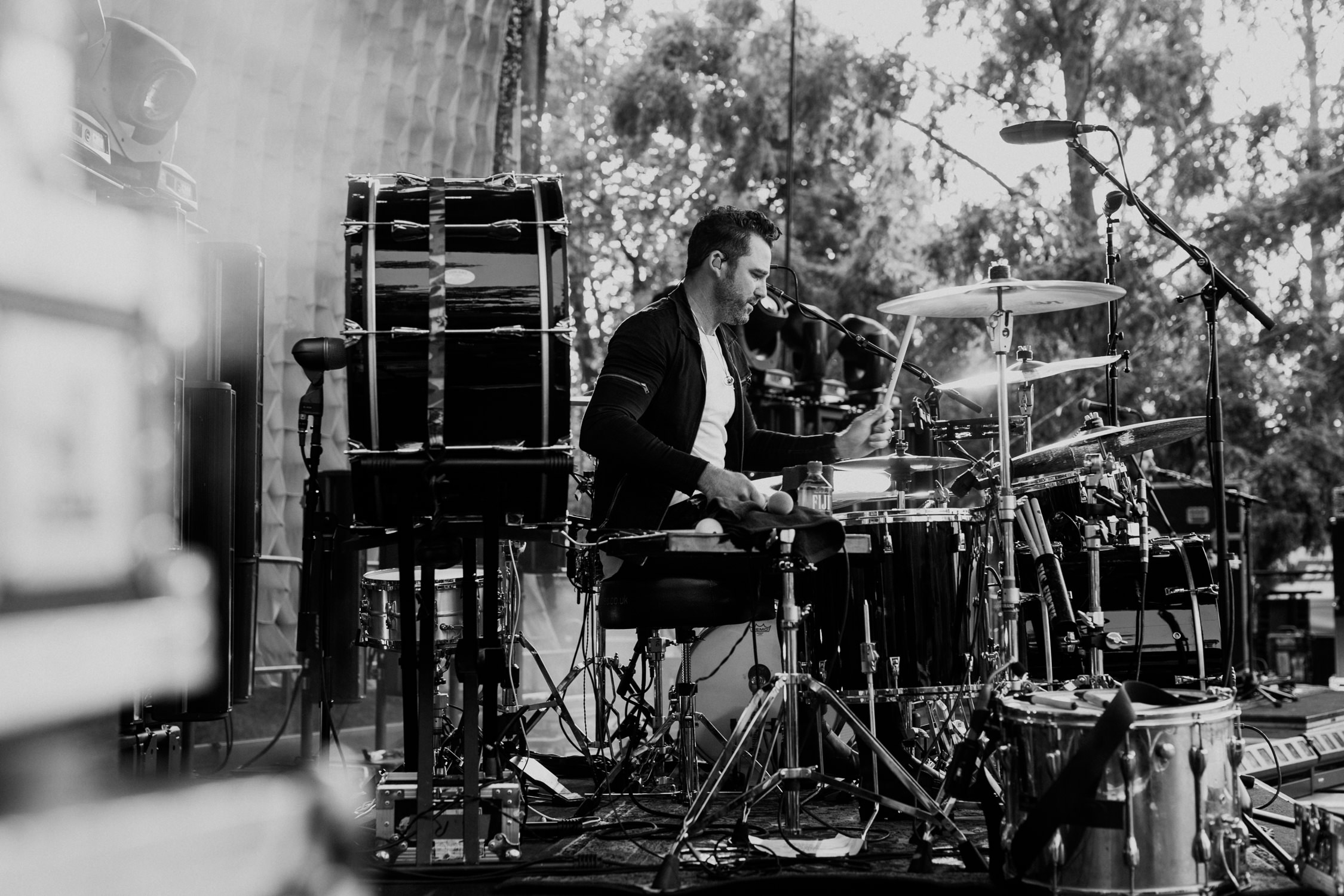 michael-baker-drummer-sound-check-gavin-degraw-tour-AnnaLeeMedia